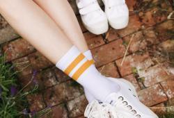 Style sport socks mustard